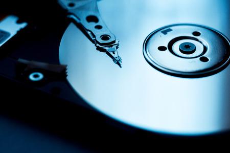 internals: Internals of a harddisk HDD. Stock Photo