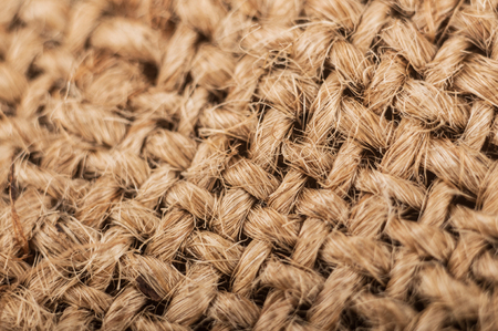 macro old sackcloth textured background.