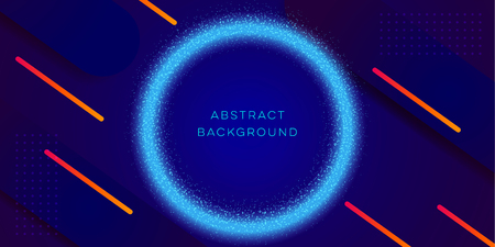 dark blue abstract background design template vector for landing page, technology and business