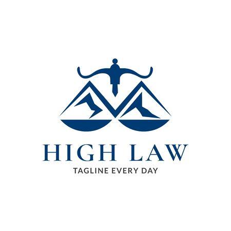 Mountain law logo design template
