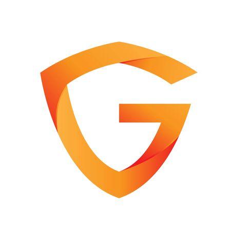 Shield G logo design template