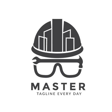 Master Building logo design template Иллюстрация