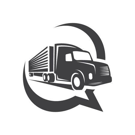 Trailer transport service logo design