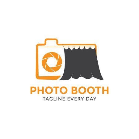 Photo booth logo design template