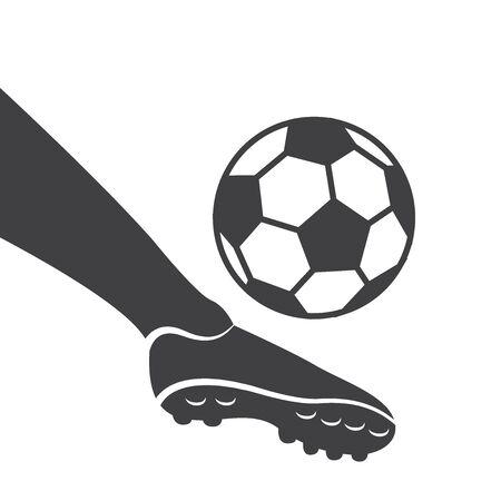 Silhouette football kick shoot design