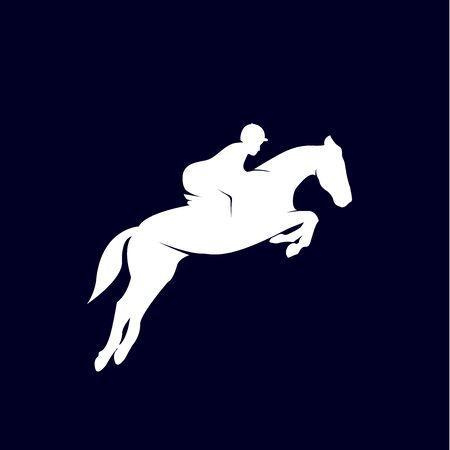 Horse racing logo design template