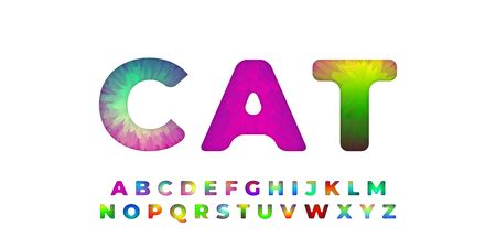 colorful font style effect fur design template