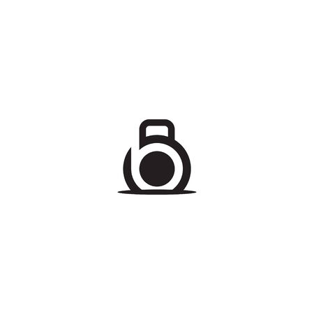 letter b for fitness  design template Vectores