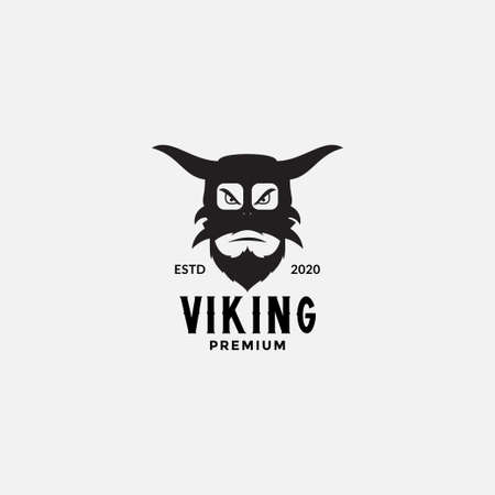 VIKING Scandinavia FACE HEAD ANGRY LOGO DESIGN