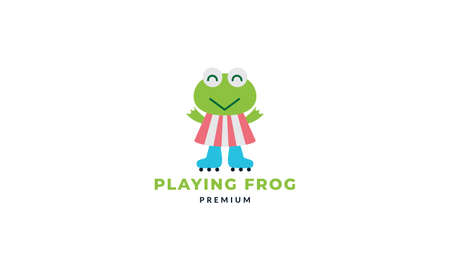 frog or toad with dress cute cartoon   icon vector illustration