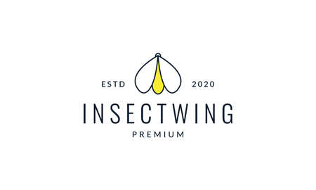 animal insect fireflies modern shape lines logo vector icon illustration design