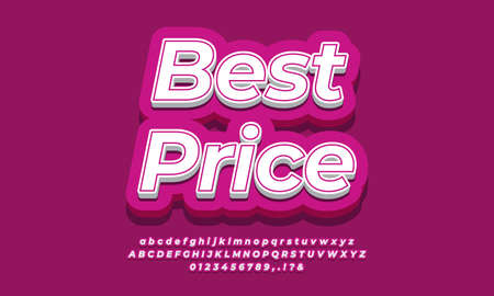 Best Price  text template for sale discount promotion  3d pink purple