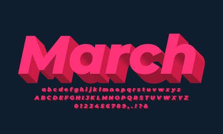 red soft bold 3d font effect or text effect design alphabet