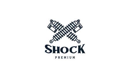 simple shock breaker automotive logo vector icon illustration design