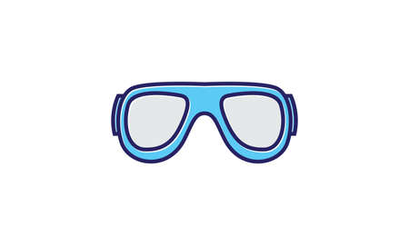 diving goggles blue logo symbol vector icon graphic design illustration