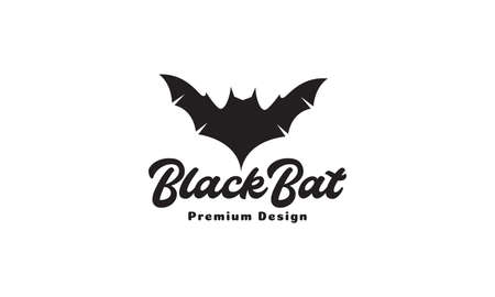 black bat fly modern shape logo design vector icon symbol graphic illustration