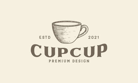 engrave cup coffee or tea symbol vector icon illustration design Vector Illustration