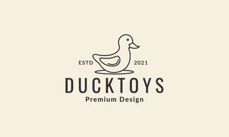 lines duckling toys symbol vector icon illustration design