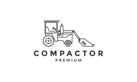 industrial backhoe loaders logo vector symbol icon design illustration