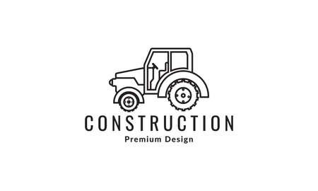 industrial motor graders logo vector symbol icon design illustration Logo