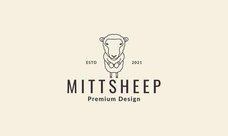 sheep boxing illustration vector design
