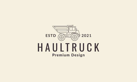 haul truck construction lines logo symbol icon vector graphic design illustration