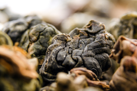 ding: Dong Ding Oolong - One Of The Oldest Varieties Of Taiwanese Teas. Macro. Under A Microscope.