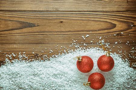 christmas background theme red christmas balls on the snow large sea salt on - Large Christmas Balls