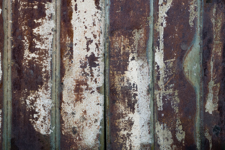Rusty Painted Metal Fence From Plates. Texture, Background Series.