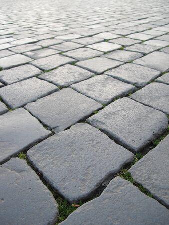 Cobblestone pavement of Saint Peter Square, Rome photo