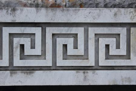 crenelation: sculpted on Stadio dei Marmi , Rome - Italy
