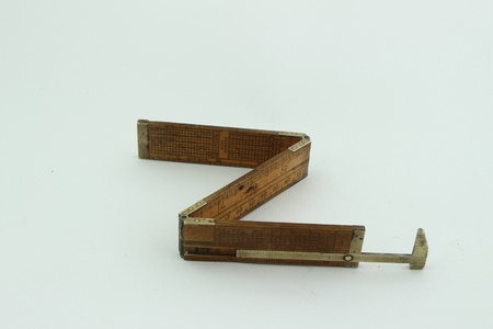 folding rule and gauge of 1910, inches fraction photo