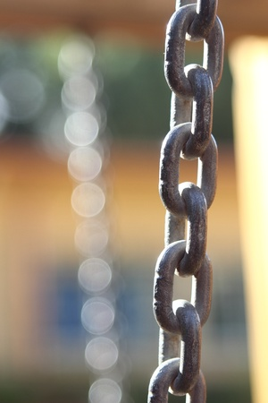 object oppression: Iron strong chain 8 Stock Photo