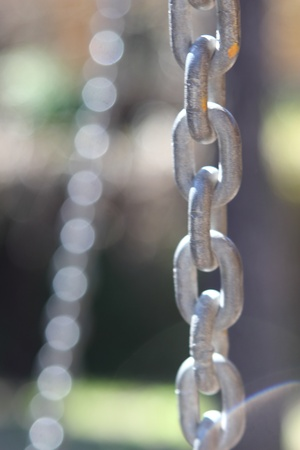 object oppression: Iron strong chain 6 Stock Photo
