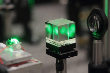 laser scientific optical system for research on crystals properties Stock fotó