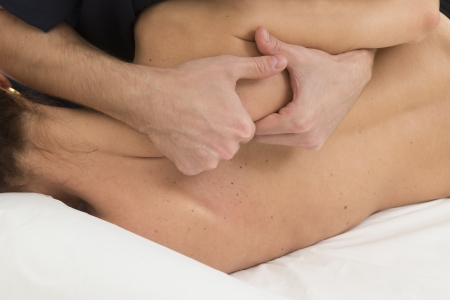 massage and manipulation of a back photo