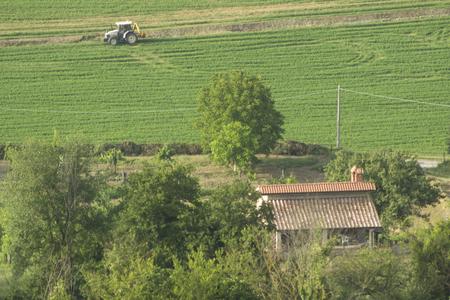 tiber: Tiber valley landscape Stock Photo