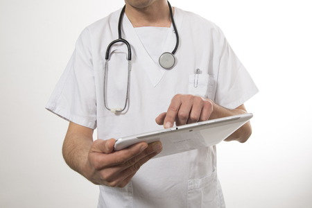 Nurse and tablet photo