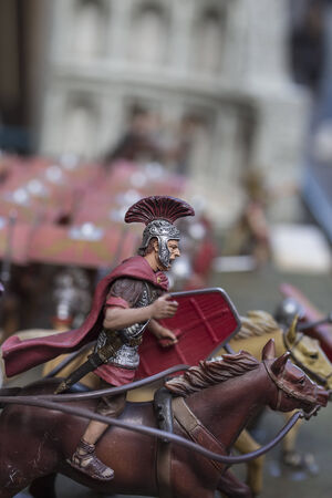 Miniature of roman empire warrior photo
