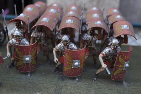 Miniature of roman empire warriors Stock Photo