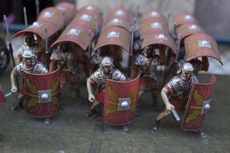 Miniature of roman empire warriors Stockfoto