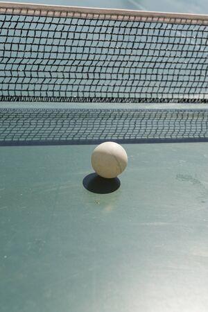 pong: Ping pong ball and table