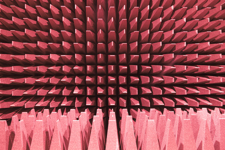 electromagnetic: Anechoic wall for electromagnetic or sound test chamber