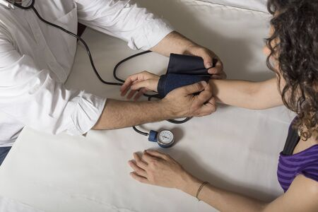 diastolic: Blood pressure measure Stock Photo