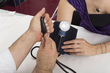 diastolic: Blood pressure measure Stock Photo