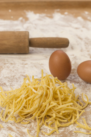 rolling pin: Pasta alluovo and rolling pin