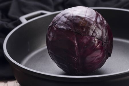 red cabbage: Red cabbage in a big pan