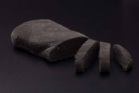 black bread: Black bread, with vegetal carbon Stock Photo