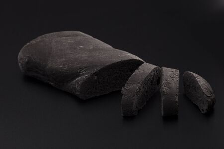 vegetal: Black bread, with vegetal carbon Stock Photo