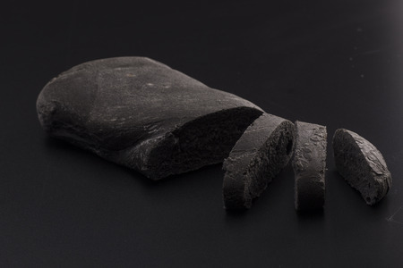 vegetal: Black bread, with vegetal carbon Stock Photo